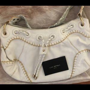 Via Spiga white leather handbag